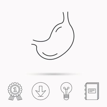 Stomach Icon. Gastroscopy Health Sign. Anatomical Body Organ ...
