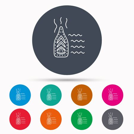steam iron: Steam ironing icon. Iron housework tool sign. Icons in colour circle buttons. Vector Illustration