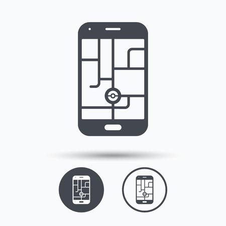 device: Smartphone device icon. Go symbol.