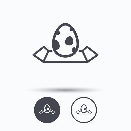 dinosaur egg: Dinosaur egg icon. Location map symbol.