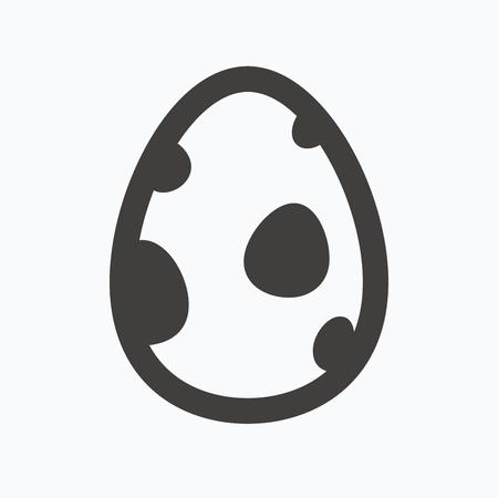 dinosaur egg: Dinosaur egg icon. Birth symbol.  egg concept. Gray flat web icon on white background. Vector