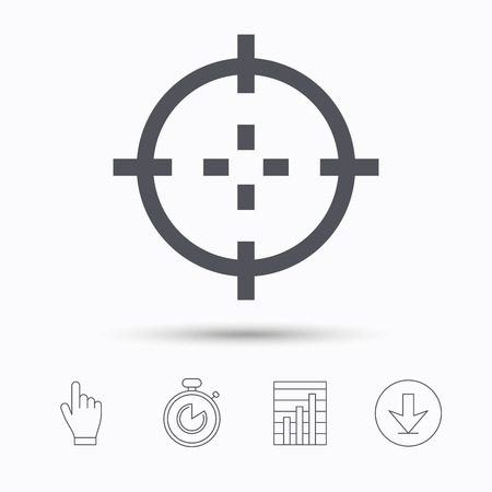 Music icon musical note sign melody symbol stopwatch timer hand crosshair aim symbol stopwatch timer hand click report chart and download arrow linear icons vector ccuart Choice Image