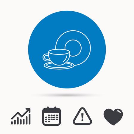 Coffee Icon Takeaway Glass Sign Hot Drink In Mug Symbol Calendar