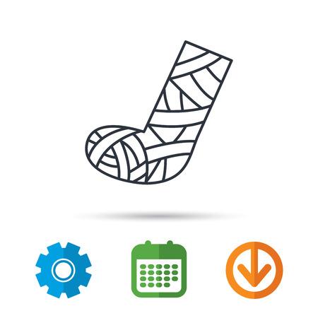 Gypsum or cast foot icon.