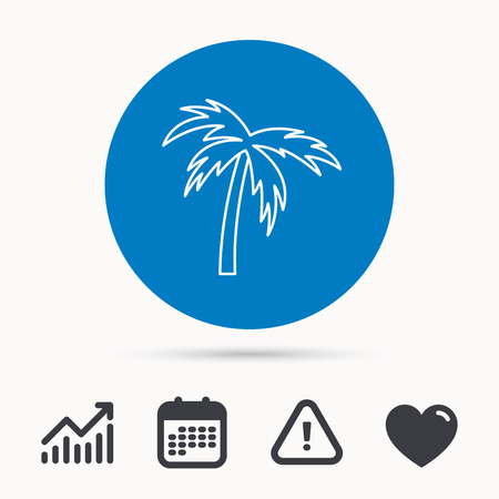 Palm Tree Icon Travel Or Vacation Symbol Nature Environment