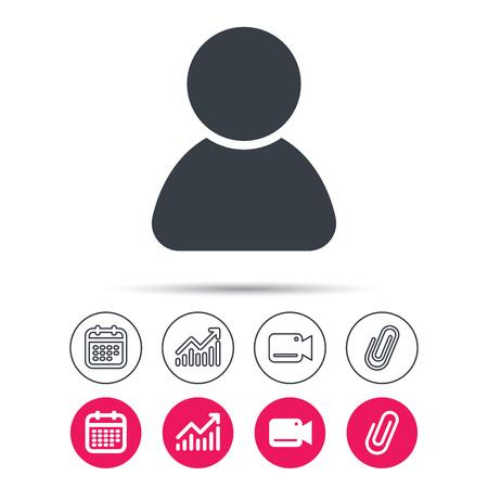 User Icon Human Person Symbol Avatar Login Sign Statistics