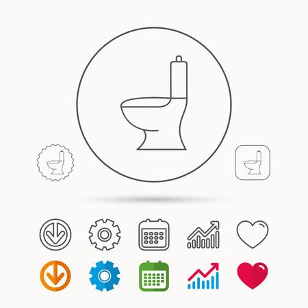 Toilet icon. Public WC sign. Illustration