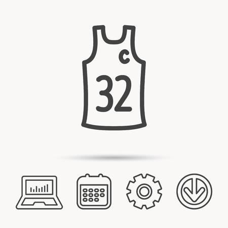 Team captain icon. Basketball shirt sign. Sport clothing symbol.