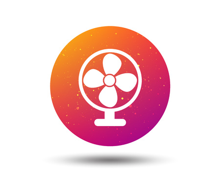 Ventilator icon. Air ventilation or fan symbol. Circle button with Soft color gradient background. Vector