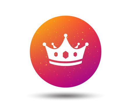 Crown icon. Royal throne leader symbol. Circle button with Soft color gradient background. Vector  イラスト・ベクター素材
