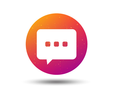 Chat icon. Speech bubble symbol. Circle button with Soft color gradient background. Vector  イラスト・ベクター素材