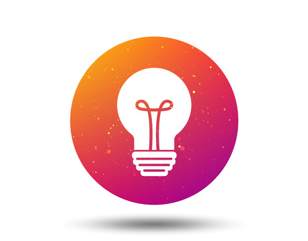 Light bulb icon. Lamp sign. Illumination technology symbol. Circle button with Soft color gradient background. Vector  イラスト・ベクター素材