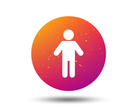 Man icon. Male human symbol. User sign. Circle button with Soft color gradient background. Vector  イラスト・ベクター素材