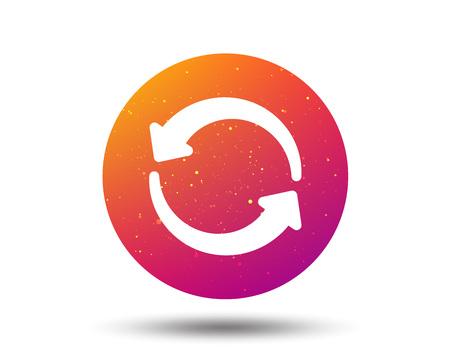 Icône de mise à jour. Actualiser ou répéter le symbole. Bouton cercle avec fond dégradé de couleur douce. Vecteur
