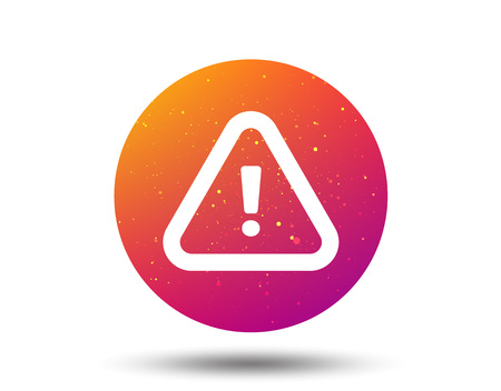 Warning icon. Attention exclamation mark symbol. Circle button with Soft color gradient background. Vector Иллюстрация