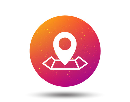 Location icon. Map pointer symbol. Circle button with Soft color gradient background. Vector