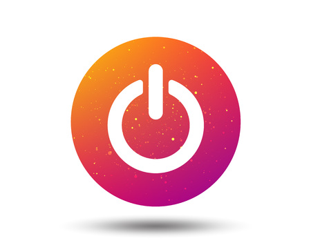 On, off power icon. Energy switch symbol. Circle button with Soft color gradient background. Vector Banco de Imagens - 106413295