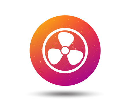 Ventilation icon. Air ventilator or fan symbol. Circle button with Soft color gradient background. Illustration