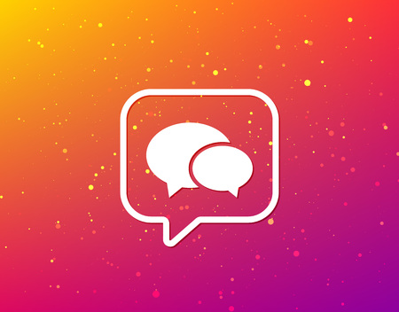 Chat icon. Speech bubble symbol. Soft color gradient background. Speech bubble with flat icon. Vector