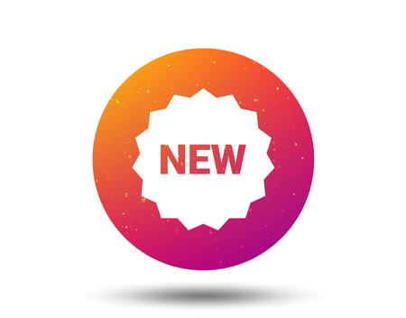 New icon. Special offer star symbol. Circle button with Soft color gradient background. Vector 일러스트