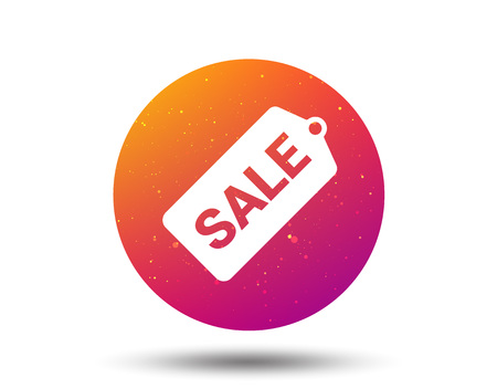 Sale coupon icon. Special offer tag symbol. Circle button with Soft color gradient background. Vector