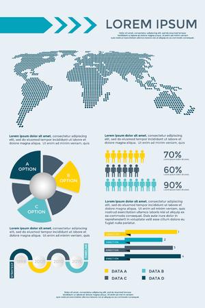 graphical chart: Infographics Elements Collection - business vector illustration for presentation, booklet, website, blog, workflow layout, brochure, banner, card, step up options, web design, poster, flyer, timeline.