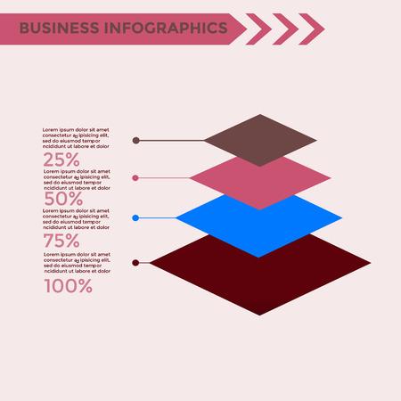 graphical chart: Infographics Elements - business vector illustration for presentation, booklet, website, blog, workflow layout, brochure, banner, card, step up options, web design, poster, flyer, timeline. Illustration