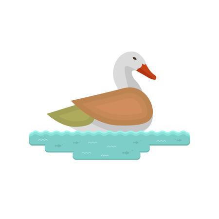 Duck icon illustration.