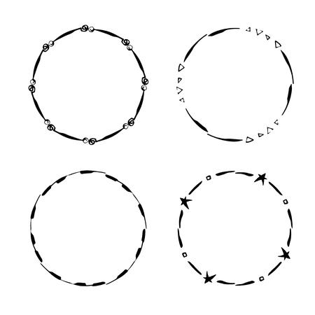 Hand drawn creative circle illustration. Illustration