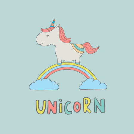 Cute Magical Unicorn Sweet Kids Graphics For T Shirts Baby
