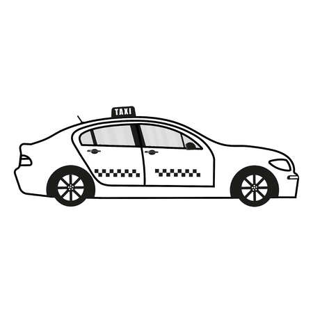Machine taxi icon isolated on white background.  vector illustration.