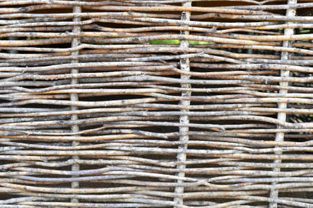 Wooden fence made of rods in a japanese garden Zdjęcie Seryjne