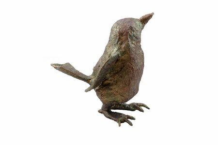 papiermache: papier-mache decoration bird with a pattern