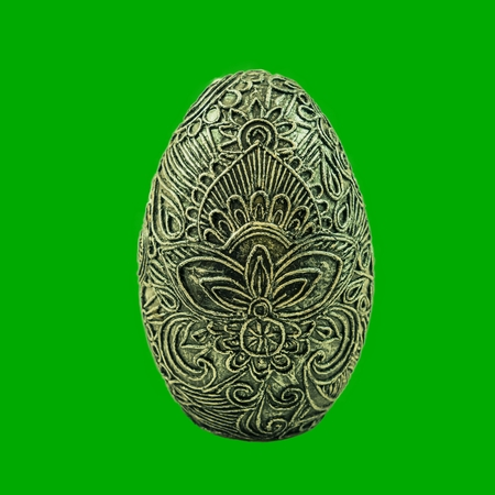 Isolated papier-mache decoration egg with a pattern