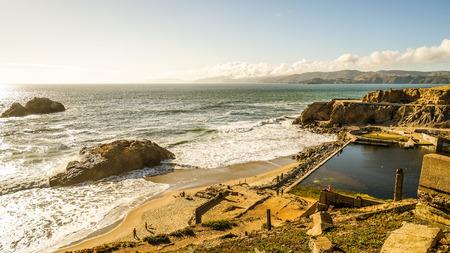 North Pacific Ocean Sutro baths Seal Rocks