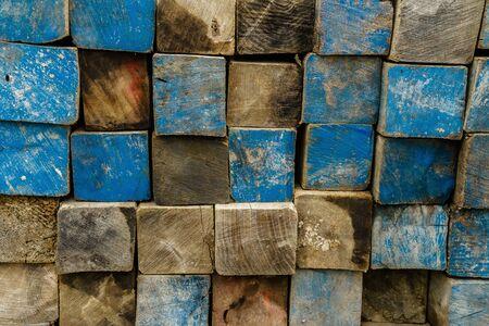 End of wooden beam background Reklamní fotografie