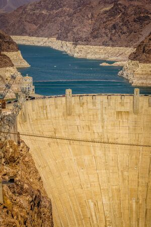 hydroelectricity: Hoover Dam Hydroelectric power station border of Arizona and Nevada USA