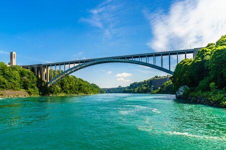 Niagara River after Niagara Falls, New York USA