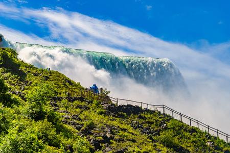 Water rushing over Niagara Falls, New York USA