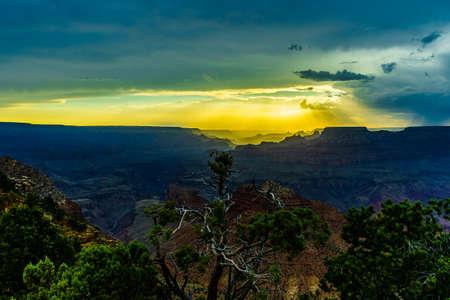 Grand Canyon National Park Sunset Desert View Watchtower, Arizona, USA
