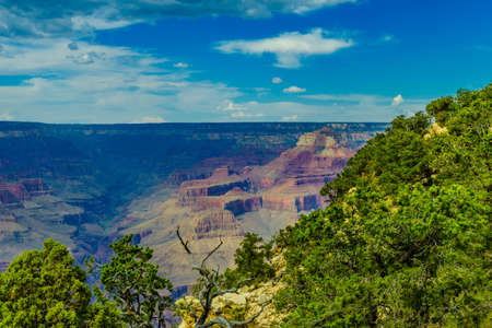 Grand Canyon National Park Mother Point and Amphitheater, Arizona, USA Stock Photo