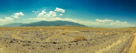 blacktop: Desert highway to Death Valley National Park Stock Photo