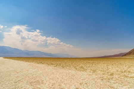 hottest: Badwater in Death Valley National Park the hottest place