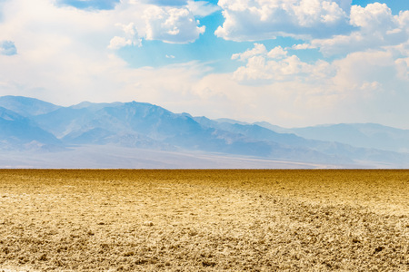 Badwater in Death Valley National Park the hottest place California USA Stock Photo