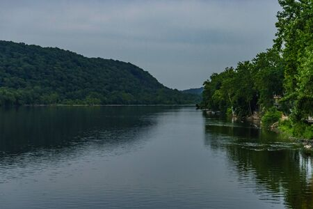 Delaware river at summer from Historic New Hope, PAUSA