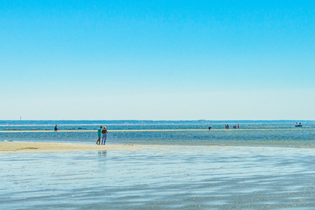 the beach on a clear summer day in Provincetown, Cape Cod, Massachusetts