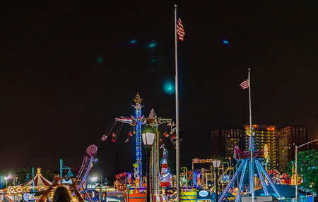 Coney Island Luna Park at night Brooklyn New York US. Imagens