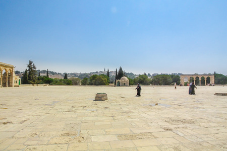 Inside wall of Temple Mount in Old City of Jerusalem. Israel