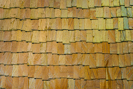 Exterior wall stone plates siding background textures. Stock Photo