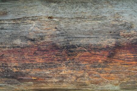 Old wooden board, background texture red yellow.